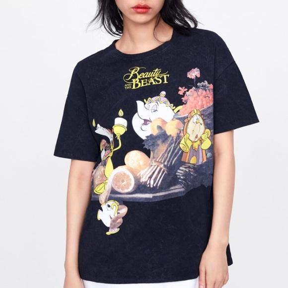 Zara Tops Beauty Beast T Shirt Poshmark